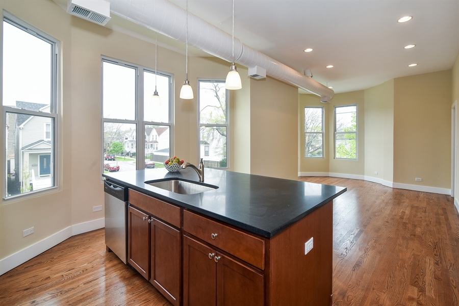 Real Estate Photography - 3659 W Shakespeare, Chicago, IL, 60647 - Kitchen / Breakfast Room