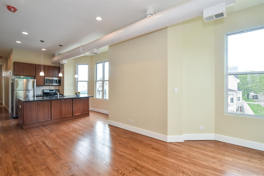 Real Estate Photography - 3659 W Shakespeare, Chicago, IL, 60647 - Breakfast Area