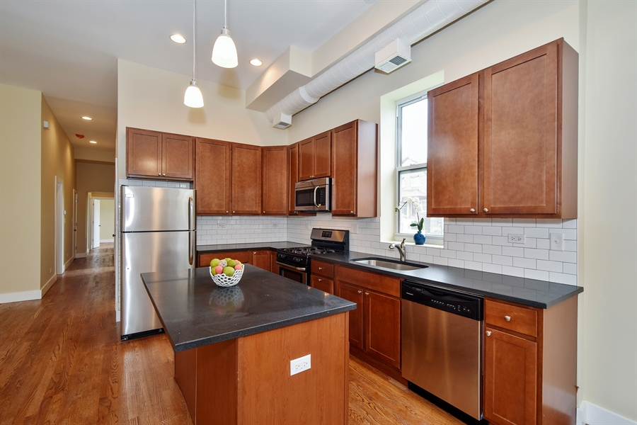 Real Estate Photography - 3659 W Shakespeare, Chicago, IL, 60647 - Kitchen