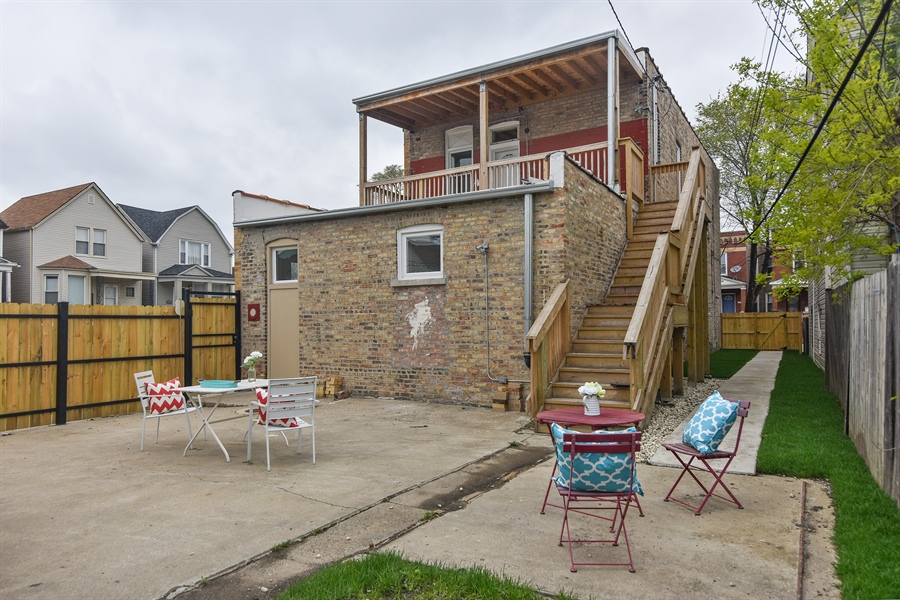 Real Estate Photography - 3659 W Shakespeare, Chicago, IL, 60647 - Rear View