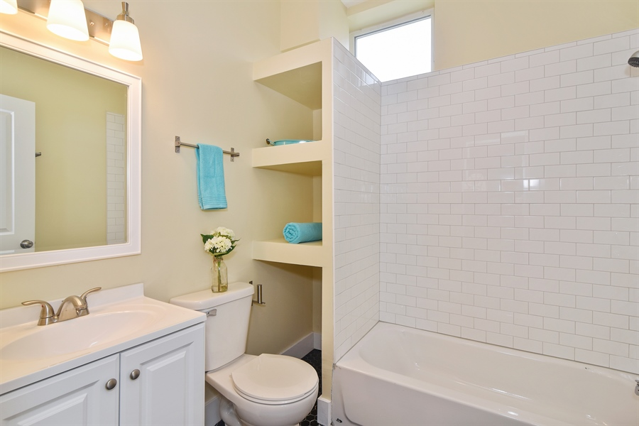 Real Estate Photography - 3659 W Shakespeare, Chicago, IL, 60647 - Bathroom