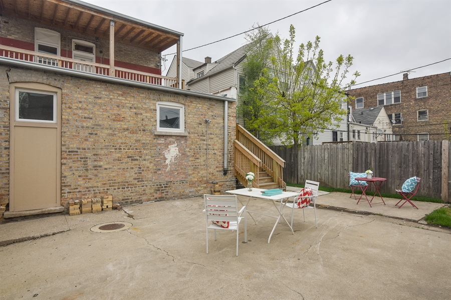 Real Estate Photography - 3659 W Shakespeare, Chicago, IL, 60647 - Patio