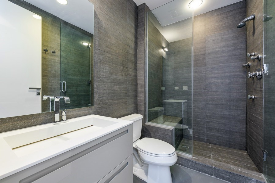 Real Estate Photography - 1211 S Prairie, Unit 3101, Chicago, IL, 60616 - 3rd Bathroom