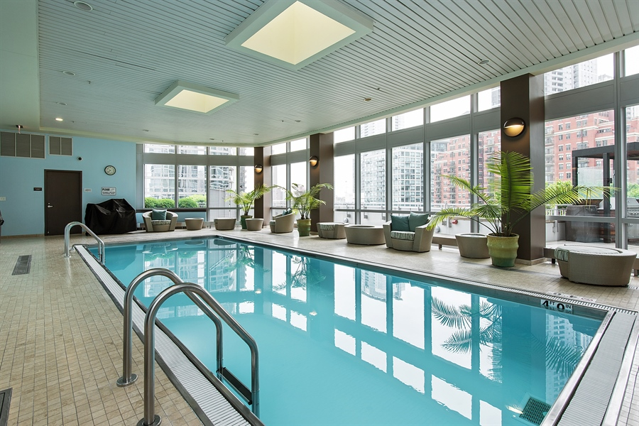 Real Estate Photography - 1211 S Prairie, Unit 3101, Chicago, IL, 60616 - Pool
