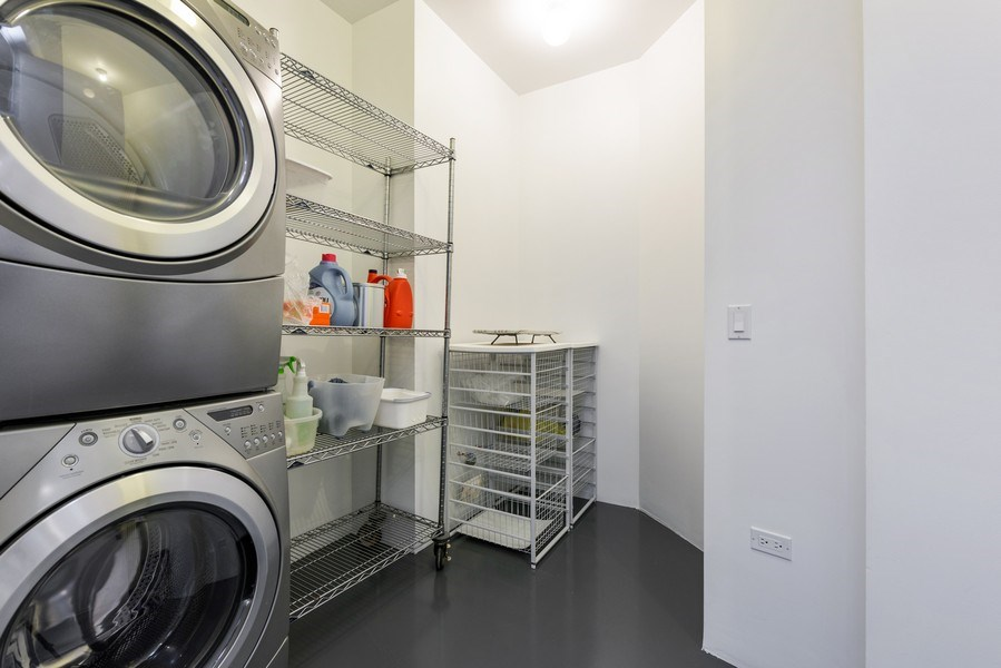 Real Estate Photography - 1211 S Prairie, Unit 3101, Chicago, IL, 60616 - Laundry Room