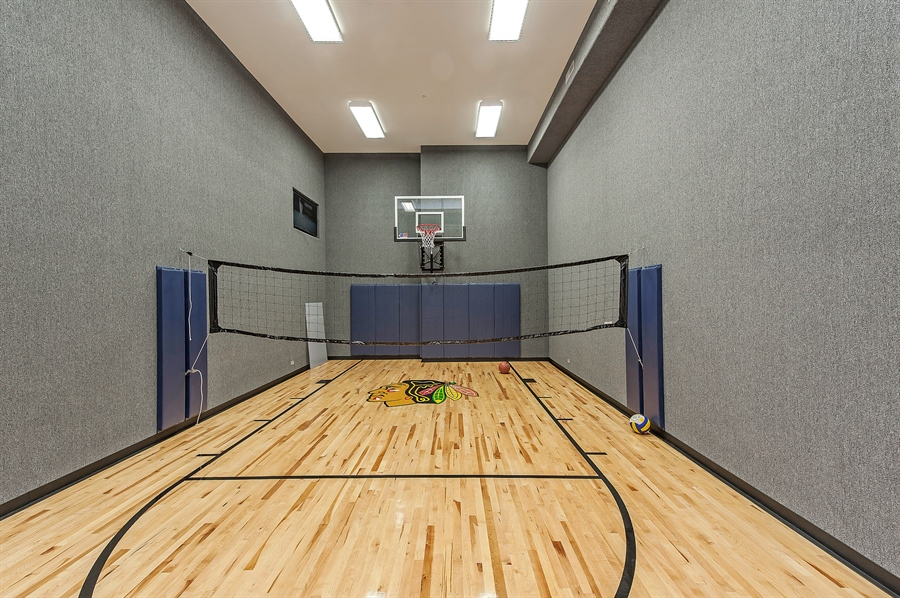Real Estate Photography - 770 Greenwood, Glencoe, IL, 60022 - Basketball Court