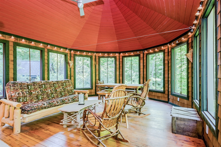 Real Estate Photography - 44 Camp Madron, Buchanan, MI, 49107 - Screened Porch