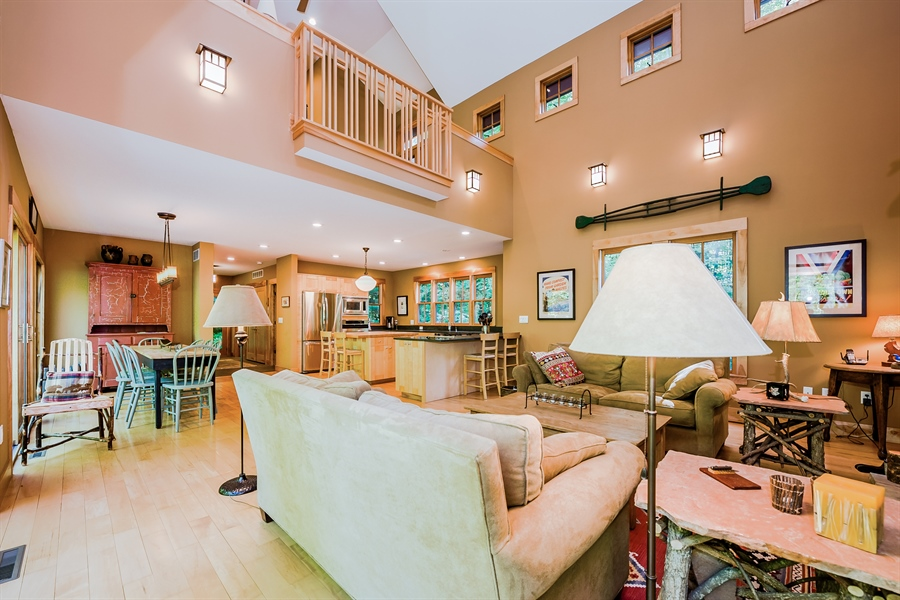 Real Estate Photography - 44 Camp Madron, Buchanan, MI, 49107 - Living Room / Dining Room