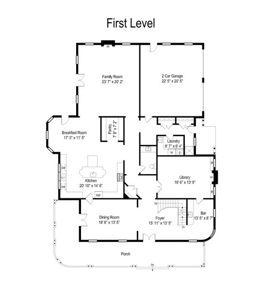 Real Estate Photography - 414 Warwick Rd, Kenilworth, IL, 60043 - Floor Plan
