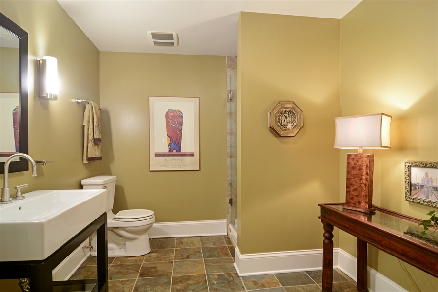 Real Estate Photography - 4302 Olde Indian Creek Ln, Long Grove, IL, 60047 - Lower level bathroom