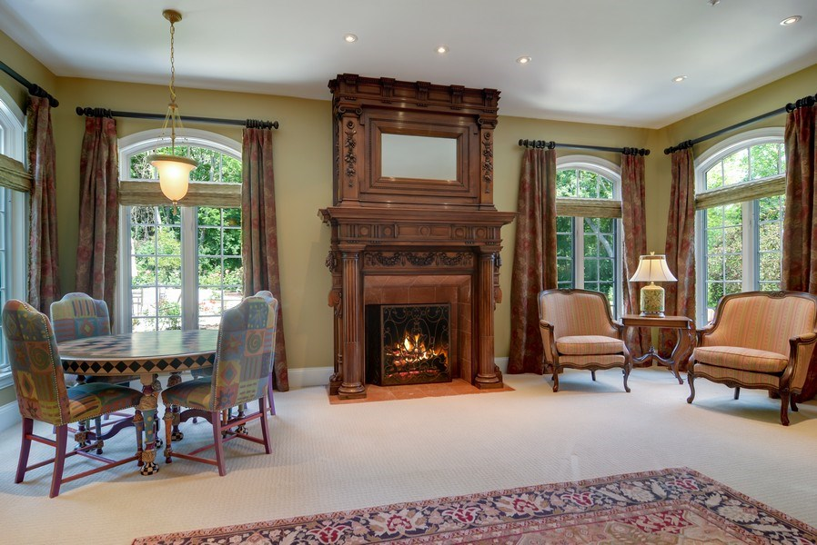 Real Estate Photography - 4302 Olde Indian Creek Ln, Long Grove, IL, 60047 - Family Room