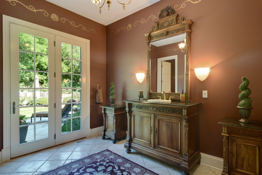 Real Estate Photography - 4302 Olde Indian Creek Ln, Long Grove, IL, 60047 - Formal Powder Room