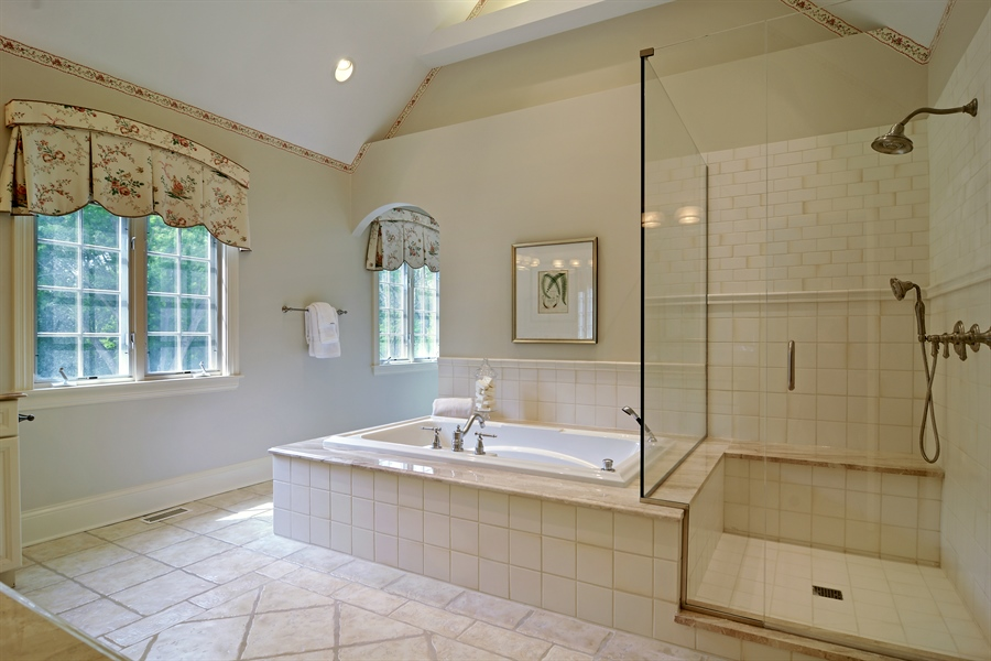 Real Estate Photography - 4302 Olde Indian Creek Ln, Long Grove, IL, 60047 - Master Bathroom