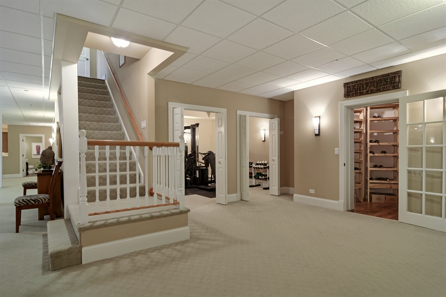 Real Estate Photography - 4302 Olde Indian Creek Ln, Long Grove, IL, 60047 - Wine Cellar