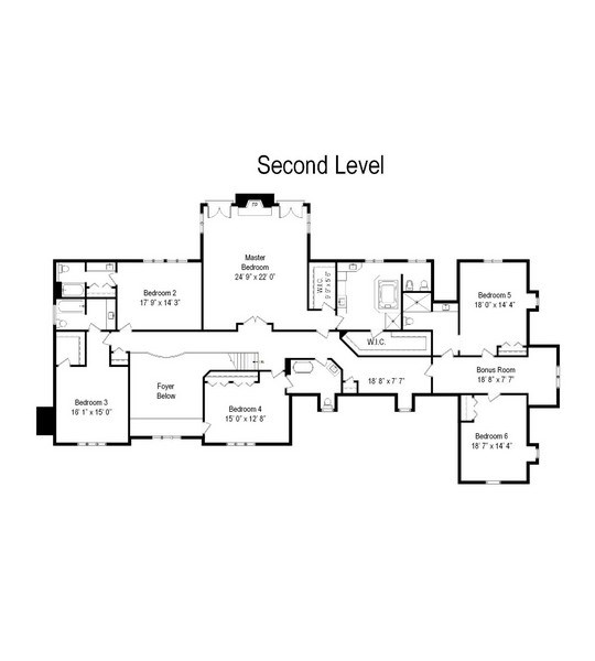 Real Estate Photography - 4302 Olde Indian Creek Ln, Long Grove, IL, 60047 - Floor Plan