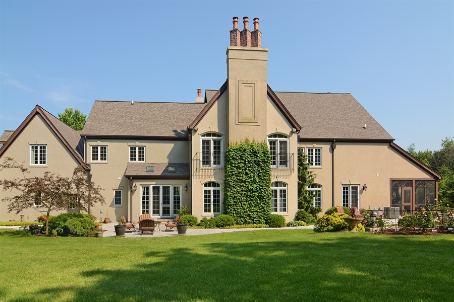 Real Estate Photography - 4302 Olde Indian Creek Ln, Long Grove, IL, 60047 - Rear View