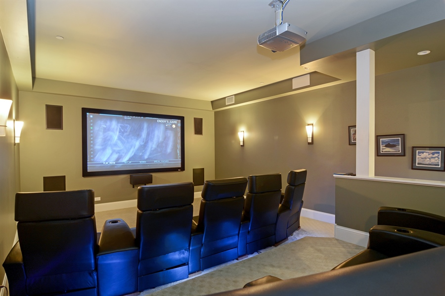 Real Estate Photography - 4302 Olde Indian Creek Ln, Long Grove, IL, 60047 - Theater