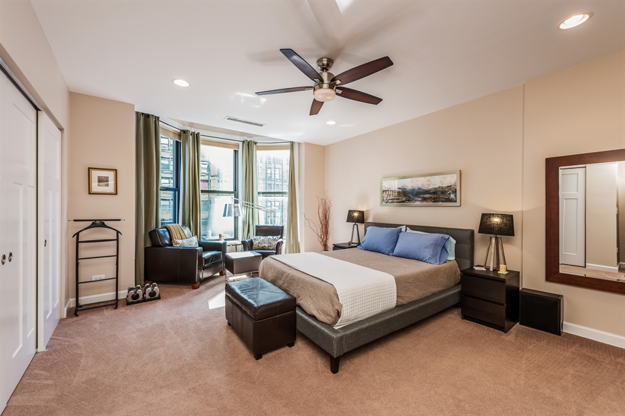 Real Estate Photography - 431 S Dearborn, 807, Chicago, IL, 60605 - Bedroom