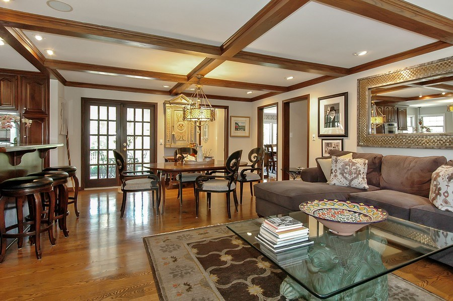 Real Estate Photography - 209 Kelsey Rd, Barrington, IL, 60010 - Family Room & Eating Area