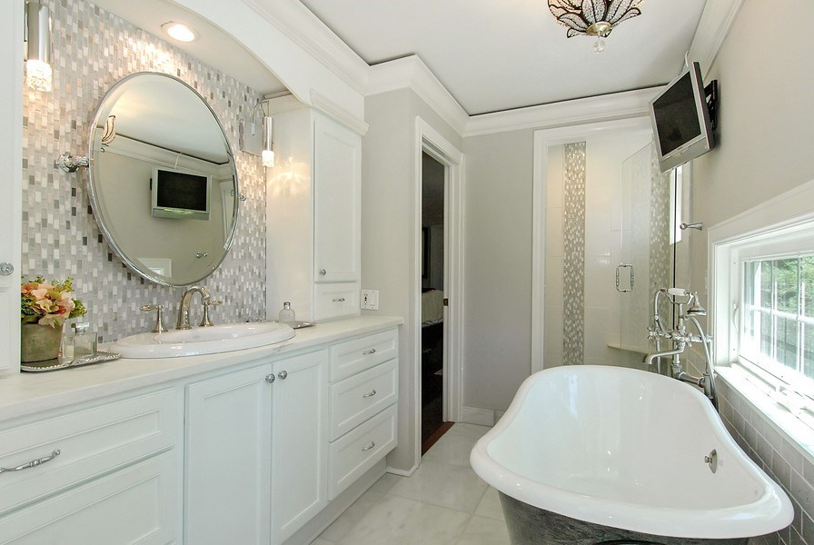 Real Estate Photography - 209 Kelsey Rd, Lake Barrington, IL, 60010 - Master Bathroom