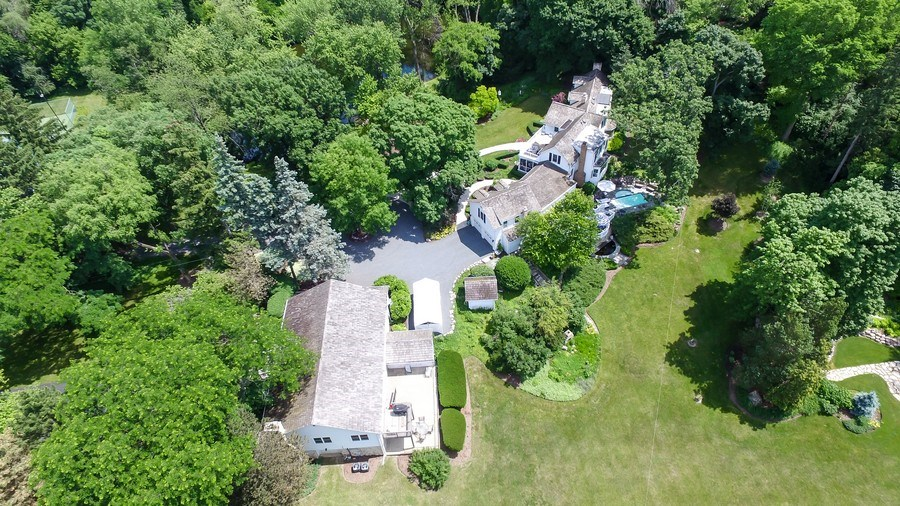 Real Estate Photography - 209 Kelsey Rd, Lake Barrington, IL, 60010 - Aerial View