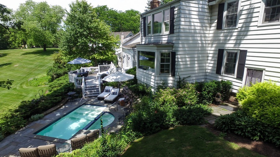 Real Estate Photography - 209 Kelsey Rd, Barrington, IL, 60010 - Aerial View