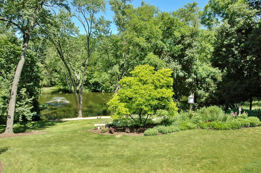 Real Estate Photography - 209 Kelsey Rd, Barrington, IL, 60010 - Pond