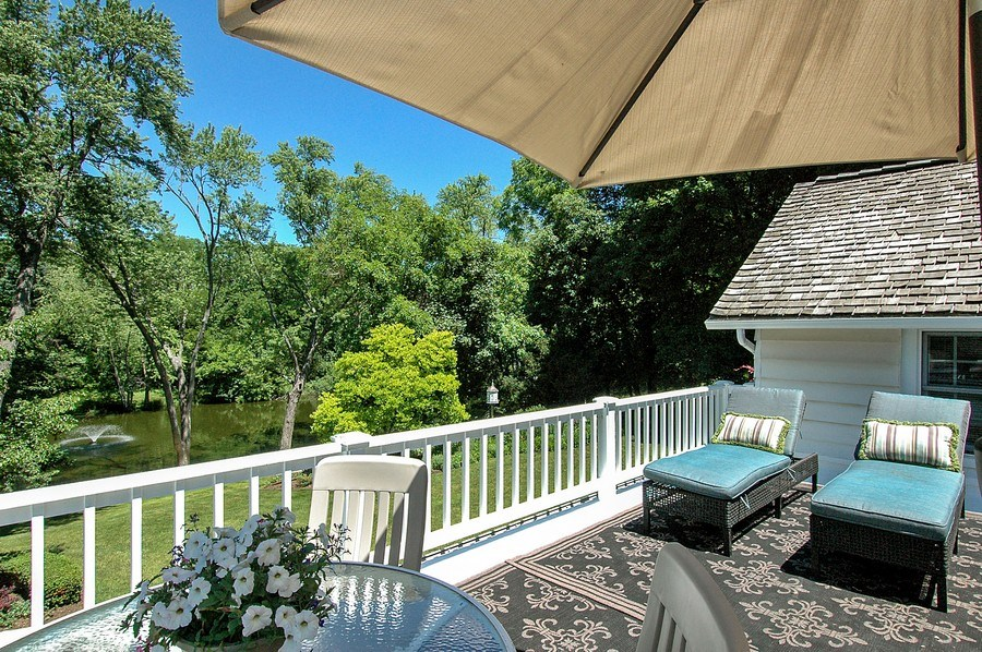 Real Estate Photography - 209 Kelsey Rd, Barrington, IL, 60010 - Balcony