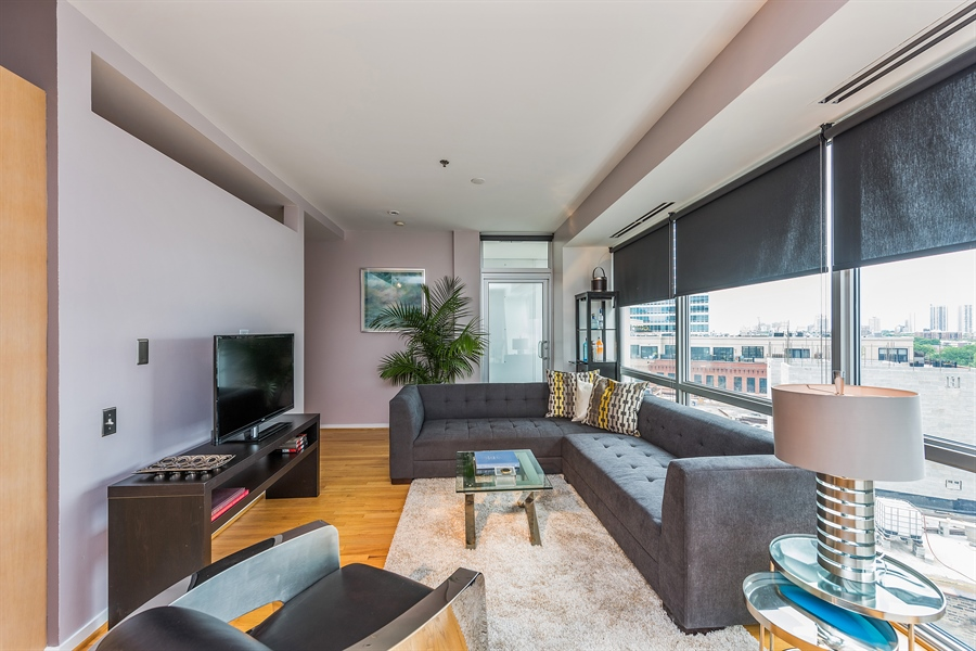 Real Estate Photography - 510 W Erie, Unit 807, Chicago, IL, 60654 - Living Room