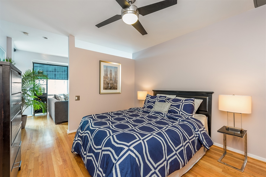 Real Estate Photography - 510 W Erie, Unit 807, Chicago, IL, 60654 - Master Bedroom