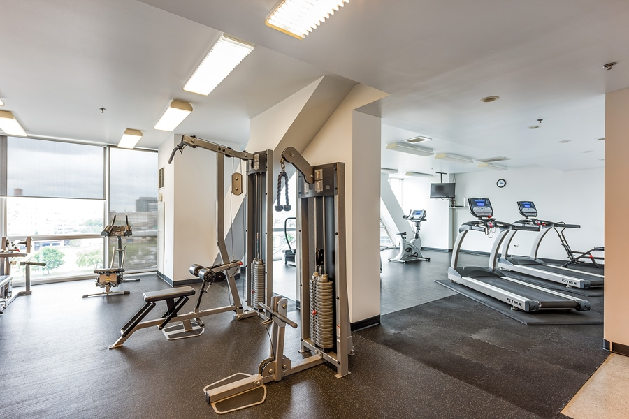 Real Estate Photography - 510 W Erie, Unit 807, Chicago, IL, 60654 - Gym