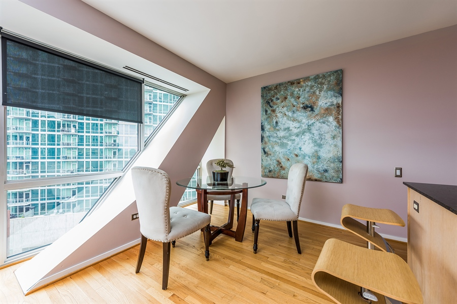 Real Estate Photography - 510 W Erie, Unit 807, Chicago, IL, 60654 - Breakfast Area