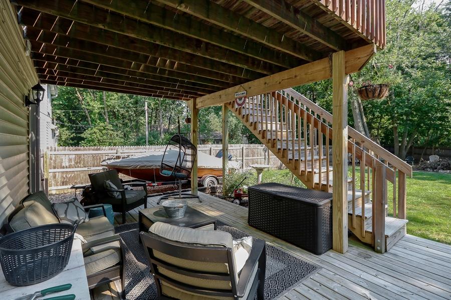 Real Estate Photography - 20745 W Genoa Ave, Lake Villa, IL, 60046 - Deck