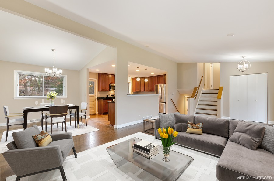 Real Estate Photography - 867 Auburn, Highland Park, IL, 60035 - Living Room / Dining Room