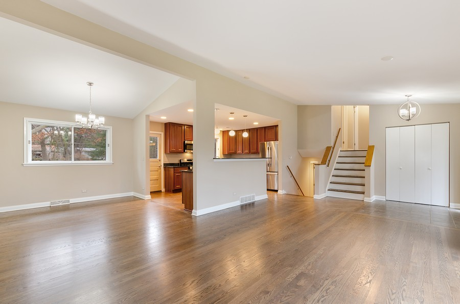 Real Estate Photography - 867 Auburn, Highland Park, IL, 60035 - Living Room/Dining Room