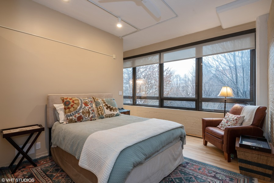 Real Estate Photography - 1855 N Halsted St, 4, Chicago, IL, 60614 - Master Bedroom