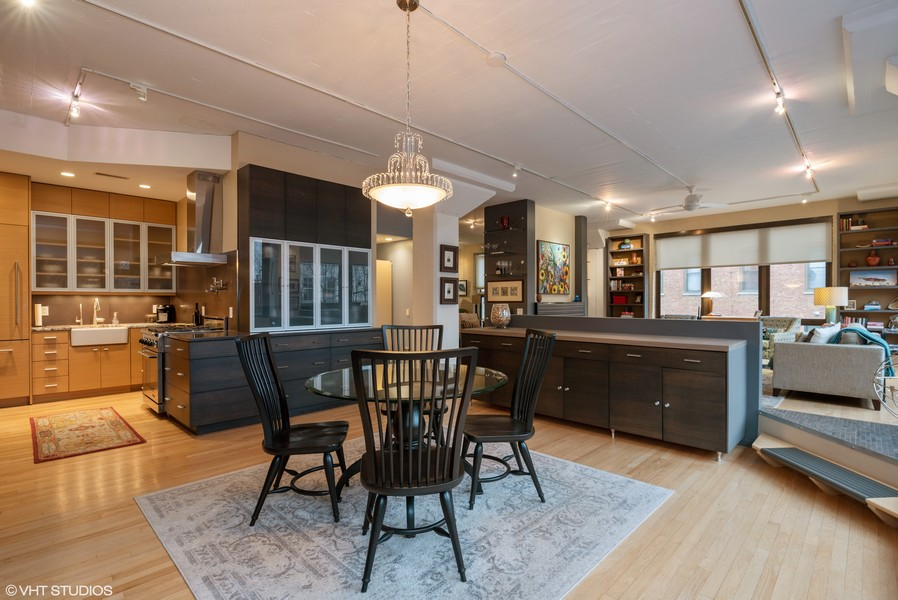 Real Estate Photography - 1855 N Halsted St, 4, Chicago, IL, 60614 - Kitchen / Dining Room