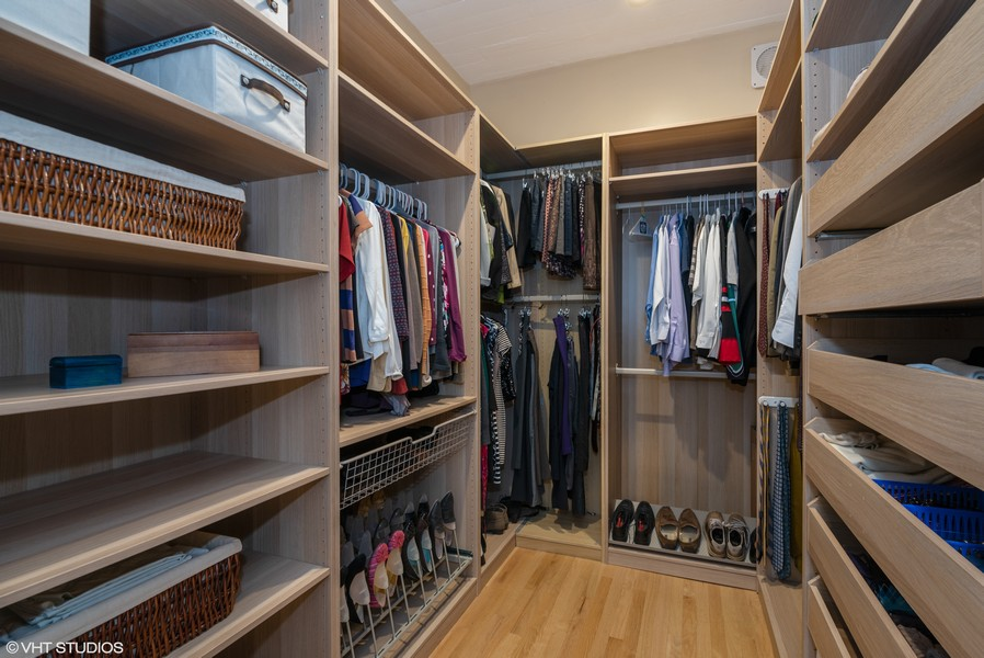 Real Estate Photography - 1855 N Halsted St, 4, Chicago, IL, 60614 - Master Bedroom Walk-In Closet