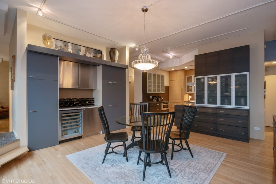 Real Estate Photography - 1855 N Halsted St, 4, Chicago, IL, 60614 - Kitchen / Dining Room / Dry Bar