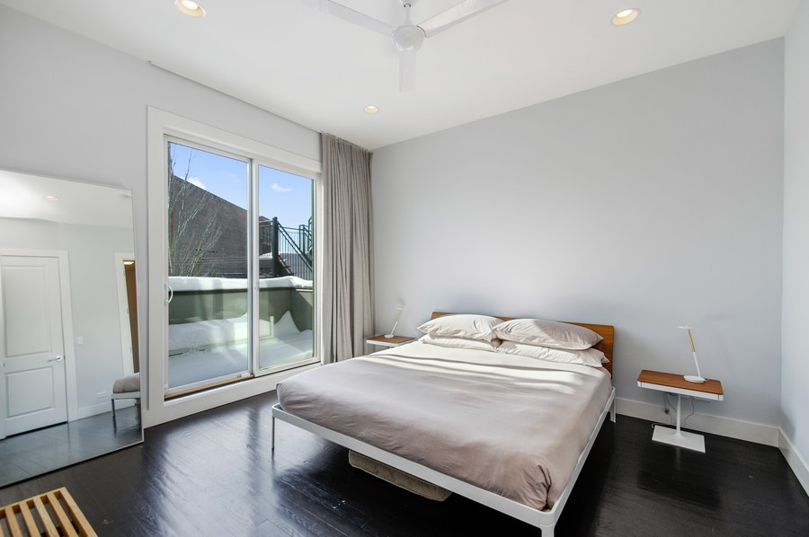 Real Estate Photography - 2532 N. Linden, 3, chicago, IL, 60647 - Master Bedroom