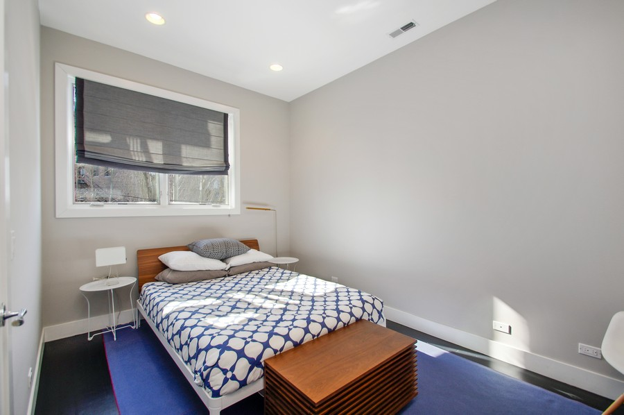 Real Estate Photography - 2532 N. Linden, 3, chicago, IL, 60647 - 2nd Bedroom