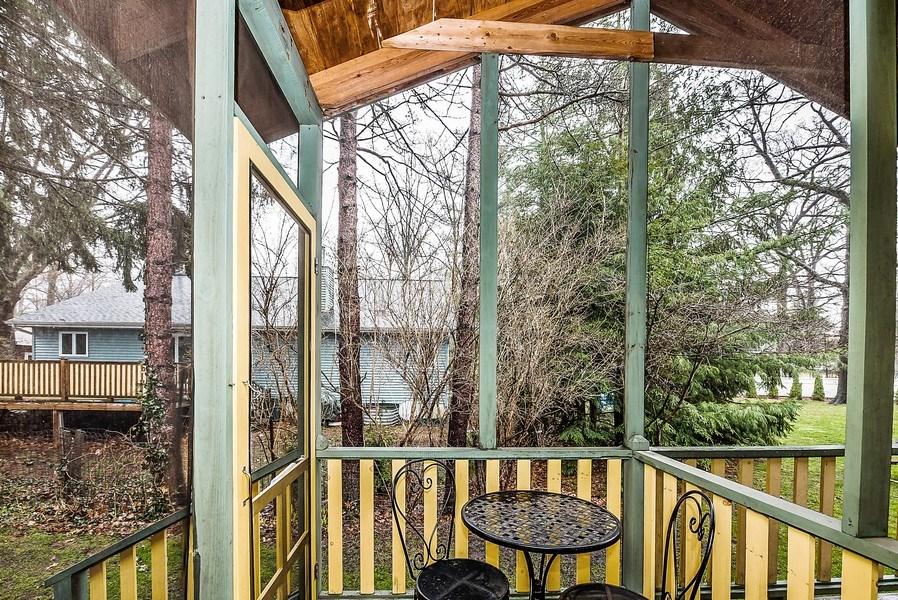 Real Estate Photography - 15657 Lake Shore Rd, Unit 7, Union Pier, MI, 49129 - Porch