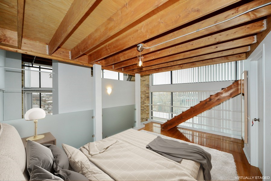 Real Estate Photography - 2614 N Clybourn, 408, Chicago, IL, 60614 - Master Bedroom