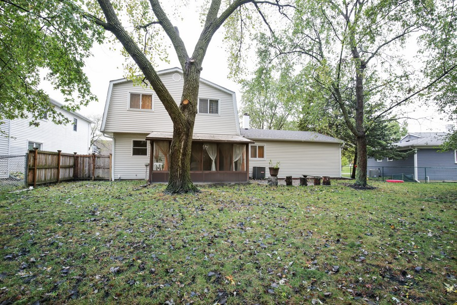 Real Estate Photography - 1137 Downing, Hoffman Estates, IL, 60192 - Rear View