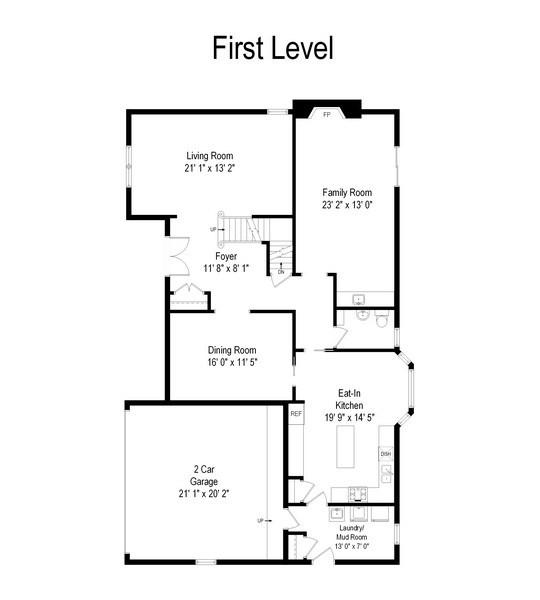 Real Estate Photography - 1910 Landwehr, Northbrook, IL, 60062 - Floor Plan