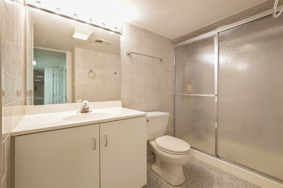 Real Estate Photography - 1910 Landwehr, Northbrook, IL, 60062 - Lower Level Bathroom