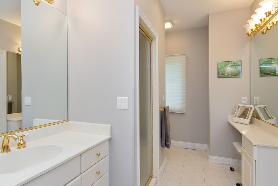 Real Estate Photography - 26709 N Countryside Lake Dr, Mundelein, IL, 60060 - Her Bathroom