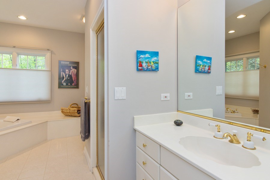 Real Estate Photography - 26709 N Countryside Lake Dr, Mundelein, IL, 60060 - His bathroom