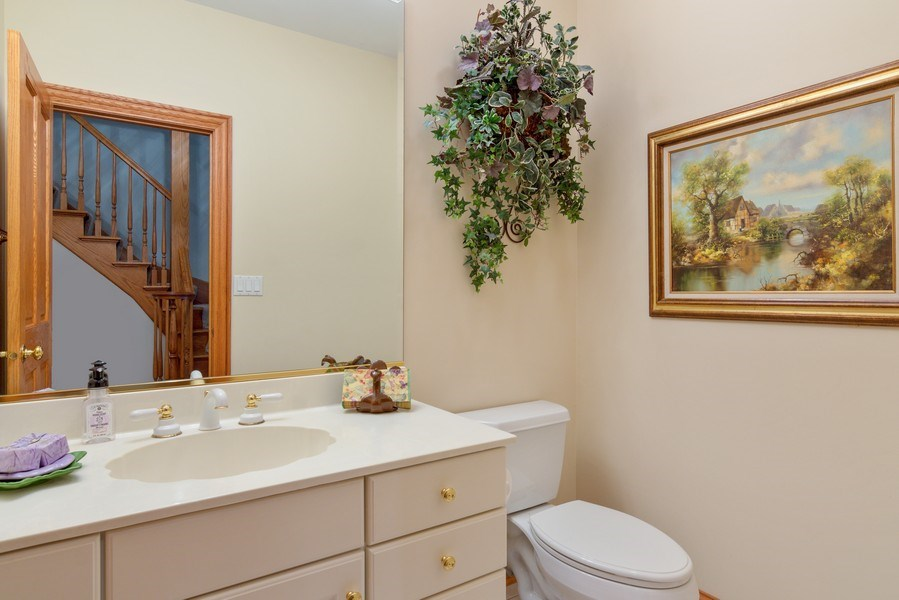 Real Estate Photography - 26709 N Countryside Lake Dr, Mundelein, IL, 60060 - Half Bath