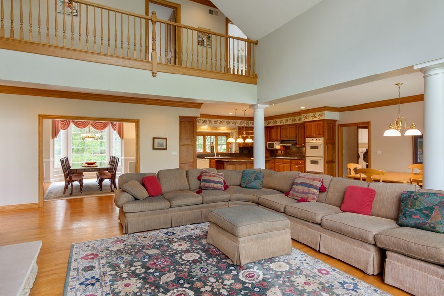 Real Estate Photography - 26709 N Countryside Lake Dr, Mundelein, IL, 60060 - Family Room / Dining Room